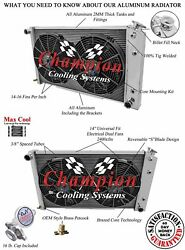 1968 1969 1970 1971 1972 -77 Chevy Chevelle 2 Row Ar Radiator And 14 Fan Combo