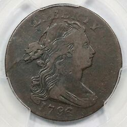 1796 S-99 Pcgs Vf Det. Draped Bust Large Cent Coin 1c Ex Robinson Brown