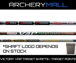 1 Dz. Victory Vap Elite Shafts .166 Micro Diameter Free Nocks And Target Points
