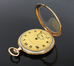 Antique 1907 T. A. Kohn And Son Aw Waltham Colonial Open Face 14k Pocket Watch