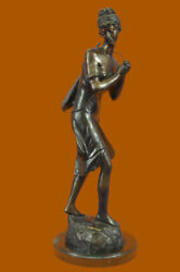 Handcrafted Bronze Sculpture Sale Gui Fashion Old Playing Girl Sexy Moreau