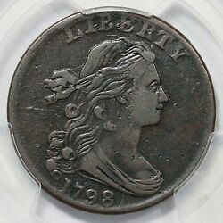 1798 S-181 R-3 Pcgs Vf 30 2nd Hair Style Draped Bust Large Cent Coin 1c
