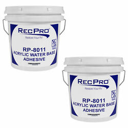 Recpro Rv 8011 Rubber Roof Adhesive 1gal Water-based Universal Dicor Sealant 2pk