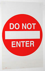 DORM POSTER Do Not Enter Door Warning Sign 1993 Original 22x35quot; Red White NOS