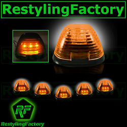 5pcs Cab Roof Top Amber Led Lights Amber Lens Marker Running Lamps Truck Rv 4x4