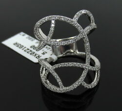 New 1.01ct Diamond And 14k White Gold Micro Pave Set Ring