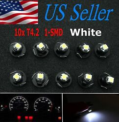 10x White T4/T4.2 Neo Wedge LED Cluster Instrument Dash Climate Base Light Bulbs