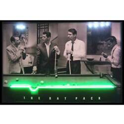 Rat Pack Neon Led Sign Poster 8 Ball Pool Room Table Billiards Wall Lamp Light