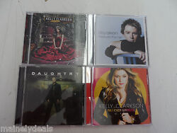 Lot Of 4 90and039s Pop - Kelly Clarkson / Daughtry / Clay Aiken - Music Cds Tested