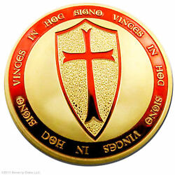 10 Exclusive Troy Oz Knights Templar Coins 24k Gold Layered