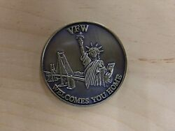 Vfw Welcomes You Home Brass Token Coin We Will Not Forget Excellent Cond