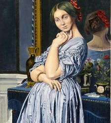 French Neoclassical Art Reproduction Oil Painting On Canvas Ingres Figure