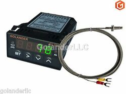 Universal 132DIN Digital PID Temperature Controller Green with K thermocouple