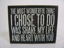 PBK Love Share My Life With You Decor Gift Novelty Wood Box Sign NEW P23610