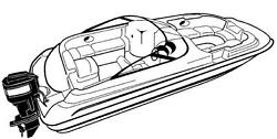 7oz STYLED TO FIT BOAT COVER HURRICANE SUNDECK SPORT SS 220 OB 2010-2015