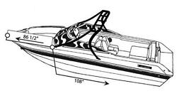 7oz STYLED TO FIT BOAT COVER HYDRO-SWIFT SPORT PRO W TOWER 2006-2007