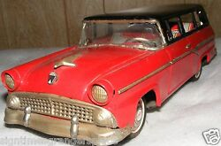 1957 ford station wagon 12 tin friction