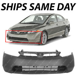 NEW Primered Front Bumper Cover Fascia for 2006 2007 2008 Honda Civic 1.8 Sedan $83.99