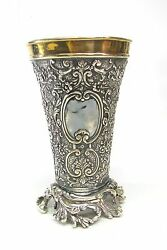 Russian Silver Hand Made Judaica Jewish Kiddush Wine Cup Goblet