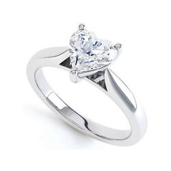 18ct White Gold Heart Shape Diamond Ring Vs2-h Available 0.25ct-0.50ct