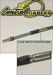 Control Cable Push-Pull Throttle Cable 126 Inches Long With Grooved Housing