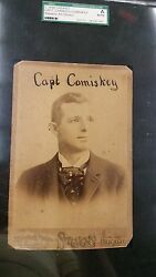 1890 Studio Cabinet CHARLES COMISKEY - Chicago Club Players League - Great image