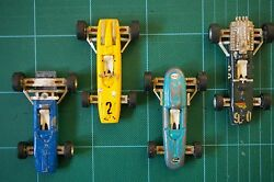 four rare auto pilen f1 toy racing cars