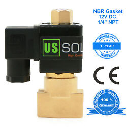 U.s. Solid 1/4 Brass Electric Solenoid Valve 12v Dc Normally Open Air Water Oil