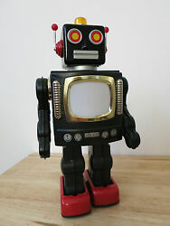metal house television robot tin space toy
