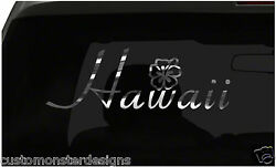 Hawaii Hibiscus Flower Sticker Aloha S12 All Chrome And Regular Vinyl Colors