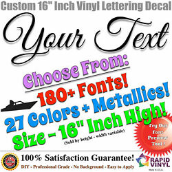 16andrdquo Custom Vinyl Lettering Decal Sticker Large Vinyl Sign Boat Numbers Letters