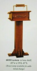 + New Pulpit + Lectern + Readers Stand + 6020 + + + Chalice Co. +
