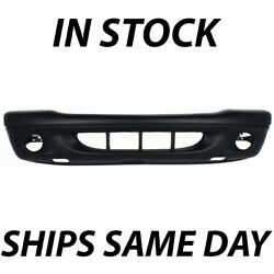 New Primered - Front Bumper Cover Fascia For 2001 2002 2003 Dodge Durango W/ Fog