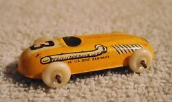 old 40s tin race car penny toy us zone