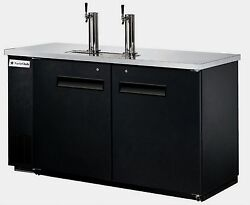 New Equipchefs Kegerator / Direct Draw Beer Dispenser 2 Tap Towers Udd-24-60