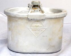 Vintage Ww2 Wwii German Military Panther Food Field Can Carrying Container Army