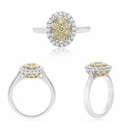 Stunningly Gorgeous 14k Yellow Diamond Ring Size 6.5 With White And Yellow Gold