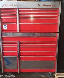 Used Snap On Tool Box Rolling Cab And Top Chest 22 Drawers And Top Storage