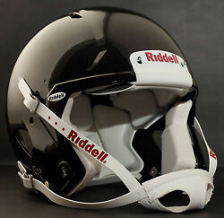 Adult Large Riddell Speed Football Helmet Gloss Black With S2bd-sw-sp Facemask
