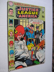 2 Vintage Old Collectible Justice League Dc Comic Books 81 And 82 Vf Lot
