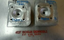 1984 Ec340 Yamaha Excel Iii Ec 340 Cylinder Heads Left And Right 8g800 L R Nice