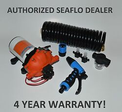 Seaflo 12v 5.0 Gpm 70 Psi Washdown Pump Kit For Deck And Anchor Wash Down