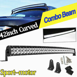 4d 42inch 560w Curved Led Light Bar Spot Flood Combo Offroad Truck Boat Atv 4wd
