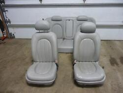 06-10 Buick Lucerne Front And Rear Leather Bucket Seats A51 W/o Heated Grey