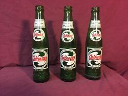 3- Sun Drop Golden Cola Old Acl 9 Oz Soda Pop Bottle Refreshing As A Cup Coffee