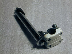 1980's Old School Chrome/white Alloy Stem For Bmx And Freestyle Bikes