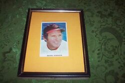 Brooks Robinson Autographed Framed Photo Vg Condition Cheap No Reserve