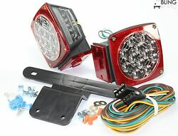 Waterproof Red Submersible Trailer Boat Led Light W Kits And License Illuminator