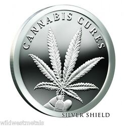 2016 Cannabis Cures 1oz Proof - Silver Shield - Sbss In-hand Rare And Hot Art