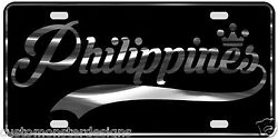 Philippines License Plate All Mirror Plate And Chrome And Regular Vinyl Choices